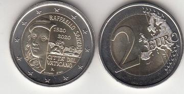 Ватикан 2020 г. -2 евро прибл. Raffael-New! Примерно  доставка товаров из Польши и Allegro на русском