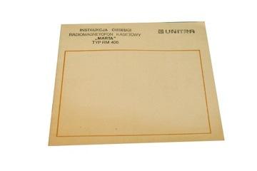 Instrukcja - Unitra radiomagnetofon Marta RM 405 доставка товаров из Польши и Allegro на русском