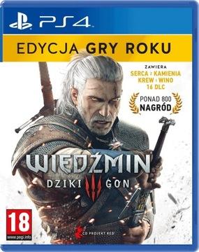 GRA PS4 WIEDŹMIN 3 DZIKI GON  EDYCJA GRY ROKU