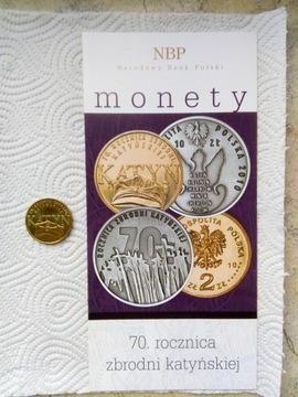Moneta 2 zł z 2010 -70 r. zb katyńskiej +fold. NBP доставка товаров из Польши и Allegro на русском