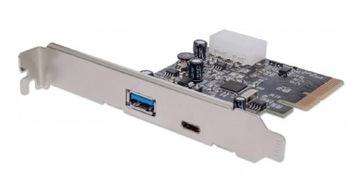 KARTA KONTROLER PCI-EXPRESS USB3.1 A+C доставка товаров из Польши и Allegro на русском