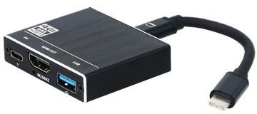 ADAPTER 3w1 USB-C HDMI 2.0+USB 3.0+USB C 4K/60Hz доставка товаров из Польши и Allegro на русском