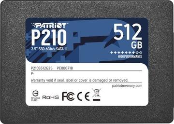 Накопитель SSD Patriot 512GB 2.5 SATA3 520/430 MB/s доставка товаров из Польши и Allegro на русском