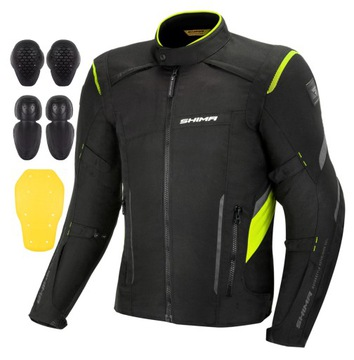 SHIMA RUSH FLUO BLACK Куртка специальная одежда для мотоциклистов + ХАЛЯВА доставка товаров из Польши и Allegro на русском
