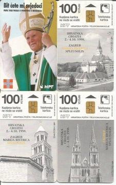 Хорватия Папа римский Иоанн Павел II - 4 разные карты доставка товаров из Польши и Allegro на русском
