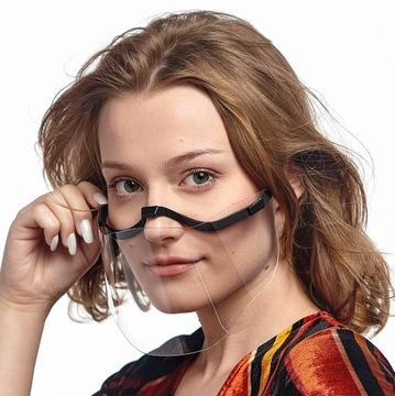 Przyłbica ochronna usta nos mini maska twarzy доставка товаров из Польши и Allegro на русском