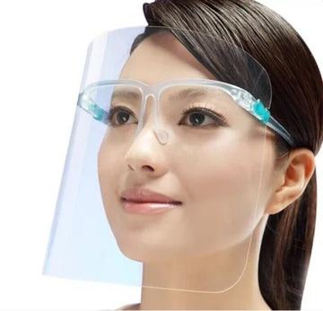 PRZYŁBICA przezroczysta na twarz maska okulary доставка товаров из Польши и Allegro на русском