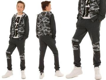 Спортивные штаны для мальчика со вставками КАМУФЛЯЖ - 140 доставка товаров из Польши и Allegro на русском