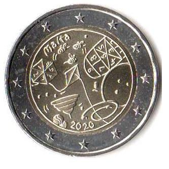 2 случайные евро Мальта 2020 GAMES monetfun MAM  доставка товаров из Польши и Allegro на русском