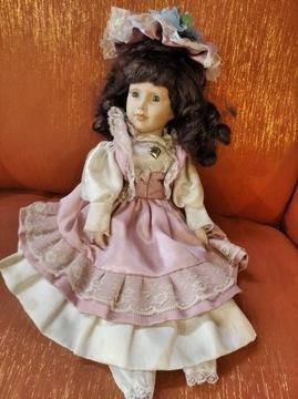 Кукла фарфоровая 40 см поврежденная, но красивая доставка товаров из Польши и Allegro на русском