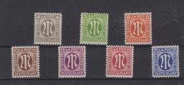 DEUTSCHLAND - 1945 ГОД,Мне. 18, 19, 21- 24, 28 ** доставка товаров из Польши и Allegro на русском
