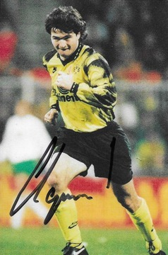 Autograf Stephane Chapuisat, Borussia Dortmund доставка товаров из Польши и Allegro на русском