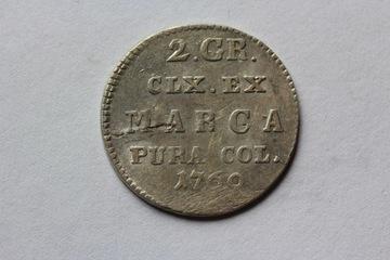 2 КОПЕЙКИ ПОЛЬША 1769 IS - С. А. ПОНЯТОВСКИЙ -ST 2/2+ доставка товаров из Польши и Allegro на русском