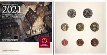 Австрия 2021 - набор евро 8 шт. Монеты 1c-2euro  доставка товаров из Польши и Allegro на русском