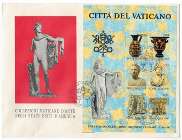 FDC Watykan 1983 sztuka antyk archeologia wystawa доставка товаров из Польши и Allegro на русском