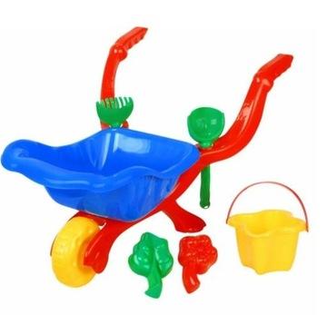 ТАЧКА для детей с аксессуарами для песка доставка товаров из Польши и Allegro на русском