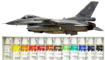 SAMOLOT DO SKLEJANIA F-16 JASTRZĄB + FARBY + KLEJ доставка товаров из Польши и Allegro на русском