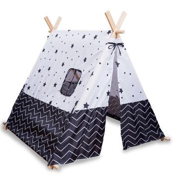 БОЛЬШАЯ Палатка ТИПИ для Детей, Вигвам, Teepee Cotton доставка товаров из Польши и Allegro на русском