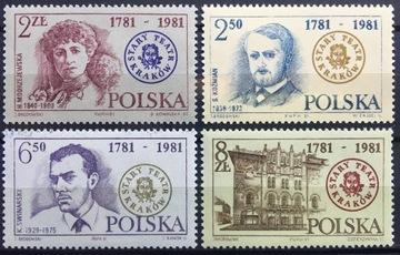 Fi 2629 -2632 ** 1981 лет Старого Театра в Кракове доставка товаров из Польши и Allegro на русском