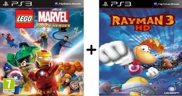 2 GRY PS3: LEGO MARVEL SUPER HEROES + RAYMAN 3 HD доставка товаров из Польши и Allegro на русском