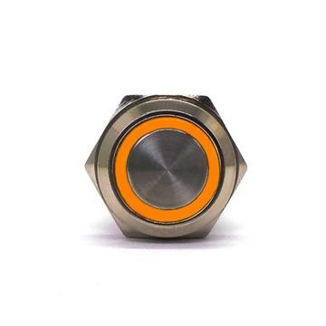 Włącznik On/Off zatrzaskowy LED 18mm Pomarańczowy доставка товаров из Польши и Allegro на русском