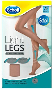 SCHOLL LIGHT LEGS КОМПРЕССИОННЫЕ КОЛГОТКИ 20DEN БЕЖЕВЫЙ L доставка товаров из Польши и Allegro на русском