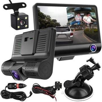 Rejestrator Jazdy Kamera Cofania 3 KAMERY Full HD доставка товаров из Польши и Allegro на русском