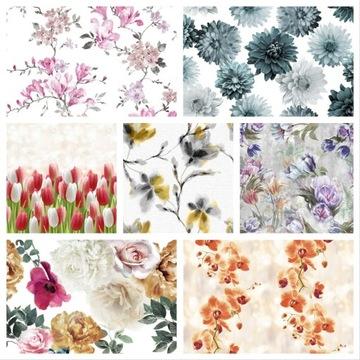 Ткань материал для штор в цветы с метро выбор доставка товаров из Польши и Allegro на русском