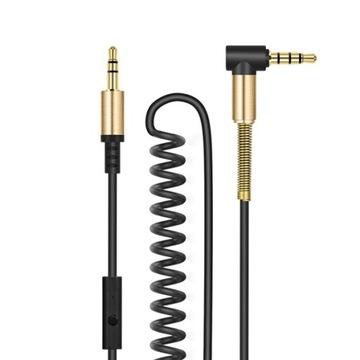 Кабель Джек Аудио AUX spiralka с микрофоном Hoco 2м доставка товаров из Польши и Allegro на русском