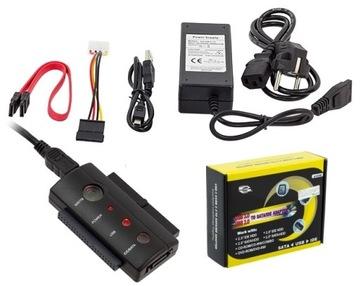 ADAPTER USB na SATA ATA IDE 2,5 3,5 + LED+ZASILACZ доставка товаров из Польши и Allegro на русском