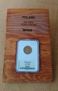 RUSSIA 20c2004 Евро проба MS65 доставка товаров из Польши и Allegro на русском
