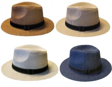 Шляпа мужской пляжный с ремешком на лето, цвета доставка товаров из Польши и Allegro на русском