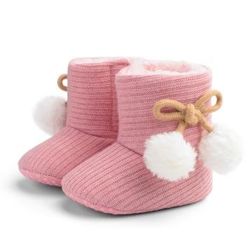 Ciepłe buciki niemowlęce niechodki zimowe доставка товаров из Польши и Allegro на русском