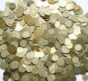 Монеты Россия - CCCP - MIX - КОПЕЙКИ - набор 1 КГ доставка товаров из Польши и Allegro на русском