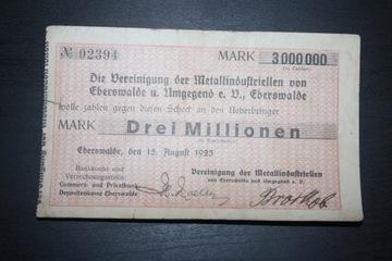 EBERSWALDE NIEMCY 1923 3 000 000 MARK DREI MILLION доставка товаров из Польши и Allegro на русском
