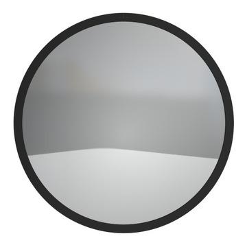 Lustro Okrągłe Ścienne Loft W Czarnej Ramie 50 cm