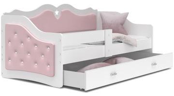 кровать обита ЛИЛИ 160x80 ярко-розовый + матрас доставка товаров из Польши и Allegro на русском