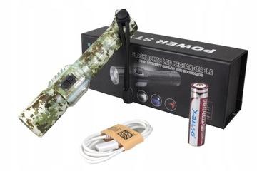 Фонарик ВОЕННАЯ КАМУФЛЯЖ MEGA ZOOM XM-L T6 SMD USB доставка товаров из Польши и Allegro на русском