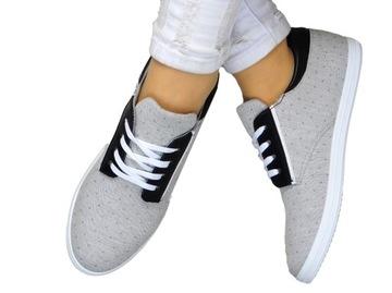 СЕРЫЕ КЕДЫ кроссовки с черными вставками доставка товаров из Польши и Allegro на русском