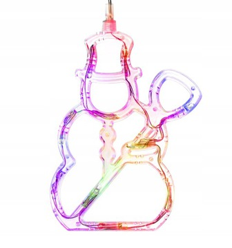 Новогоднее украшение Светодиодный снеговик на окне 20см 10led  доставка товаров из Польши и Allegro на русском