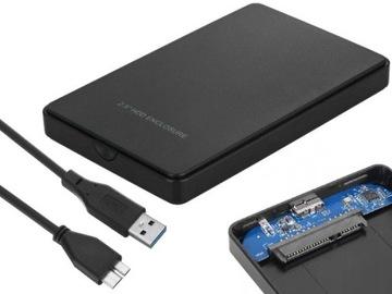 OBUDOWA DYSKU 2,5'' KIESZEŃ HDD SATA USB 3.0 +ETUI доставка товаров из Польши и Allegro на русском