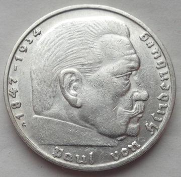 Германия - 2 марки 1936 Г - ГИНДЕНБУРГ доставка товаров из Польши и Allegro на русском