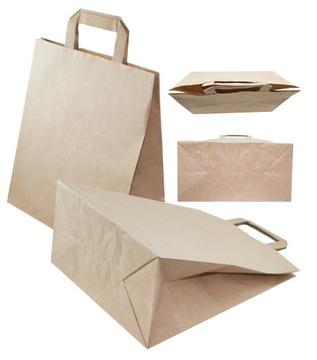 Сумка сумочка бумажная серая 260x140x300 50шт. доставка товаров из Польши и Allegro на русском