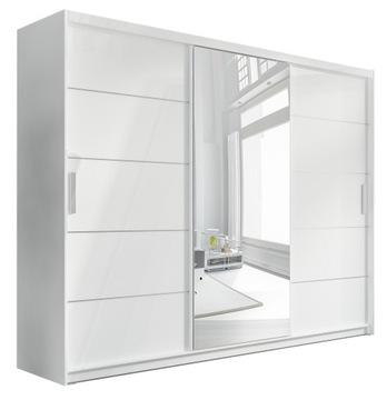 Большой Шкаф-Купе с зеркалом и ящиками Белая доставка товаров из Польши и Allegro на русском