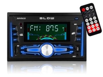 Radio samochodowe BLOW bluetooth SD USB pilot 2DIN доставка товаров из Польши и Allegro на русском