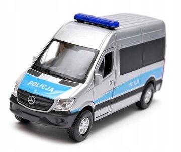Mercedes Sprinter ПОЛИЦИЯ ПОЛЬША 1:34 - 39 Welly доставка товаров из Польши и Allegro на русском