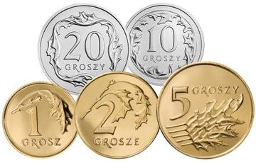 Komplet monet obiegowych 1998 r. UNC 5 sztuk доставка товаров из Польши и Allegro на русском