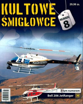 КОЛЛЕКЦИЯ ЗНАЧОК ВЕРТОЛЕТОВ № 8 + модель Bell 206 J  доставка товаров из Польши и Allegro на русском