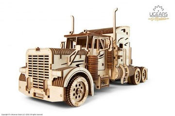 Трактор VM-03 Модель механический представления Ugears доставка товаров из Польши и Allegro на русском