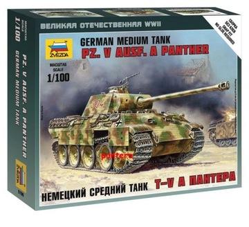 German Medium Tank PANTHER Ausf.G 1/100Zvezda 6196 доставка товаров из Польши и Allegro на русском